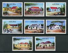 Aruba Architecture Stamps 2017 MNH Typical Houses Trees Goats Buildings 8v Set