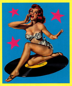 PIN UP T-SHIRT. ROCK'N'ROLL, ROCKABILLY, BETTY PAGE.