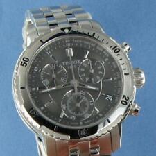 Tissot PRS200 Chronograph Black Dial Steel Watch T0674171105101 New w tags