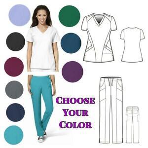 New Wonder123 Medical Scrubs>Tops &/or Cargo Pants>Assorted Colors>Sz XXS- 5XL
