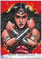 DC Comics Women of Legend ~ CHRIS MEEKS Sketch Card AP ~ Wonder Woman