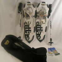 """Atlas unisex Lock Jaw 30"""" Snowshoe Kit USED with tags - Snowshoes - Bag - Poles"""
