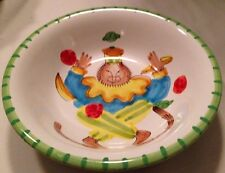 """ANNE HATHAWAY PRESENT TENSE MONKEY BUSINESS 8 1/4"""" SALAD SOUP BOWL GREEN ITALY"""