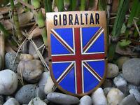 schöne alte GIBRALTAR Wappen emaillierte Auto Plakette Car Badge