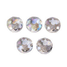 10pcs Flying Saucer Faceted Glass Crystal Jewelry Makings Loose Beads 14x7mm New