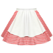 "Ladies OKTOBERFEST Costume Bavarian German 17"" Gingham Apron DIRNDL Skirt"