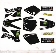 3M Monster Black Decals Graphic Sticker KTM 50 Style Fairing PIT PRO Dirt Bike