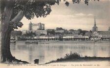 SAUMUR - el castillo y muelle de Limoges - vista desde la castaña