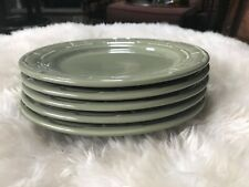 Longaberger pottery sage green luncheon plates
