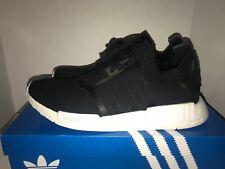 Adidas NMD R1 PK Primeknit Monochrome BA8629 Black Men's Size 12