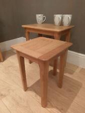Bergen Light Oak Nest of 2 Tables / Nesting Table Set - Scandinavian Style Retro