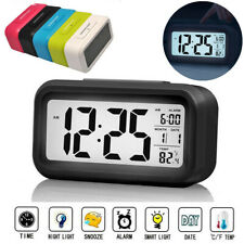 LCD Digital Clock Battery Operated Snooze Electronic Alarm Clocks Kids Gift