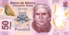 MEXICO.2015/, 50 Pesos, Polymère... série T. Universel, (B)