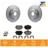 Rear Coated Disc Rotors & Ceramic Brake Pads Fit BMW Alpina B6 xDrive Gran Coupe