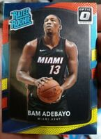 2017-18 DONRUSS OPTIC RED AND YELLOW BAM ADEBAYO RATED ROOKIE RC#187