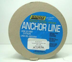 "SeaChoice Twisted Nylon Boat/Fishing Anchor/Dock/Mooring Line 3/8"" x 100' 40711"