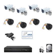 KIT VIDEOSORVEGLIANZA AHD IP CLOUD DVR 4 CANALI 4 TELECAMERE HD IR 2 MPX HD 500G