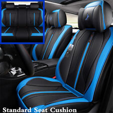 Car 5-Seats Seat Cover Cushion 6D Surround Breathable Luxury Microfiber Leather