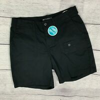 Women's Lee Black Casual Shorts sz 6 Relaxed Fit Elastic at the Waist