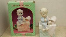 Enesco Precious Moments Porcelain Night Light Holiday 1994, Little Boy
