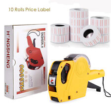 8 Digits Handy Regular Tagger Machine Price Tag Gun 10 Rolls Price Label Stores