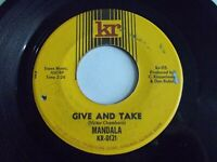 Mandala Give And Take / From Toronto 45 1967 KR Canada Rock Vinyl Record