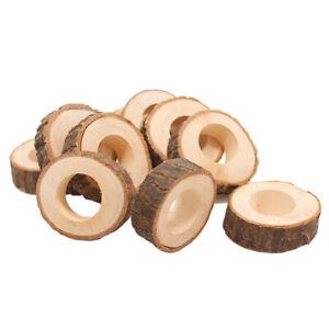 6 Stück Serviettenringe Kreative Serviettenhalter aus Holz für die
