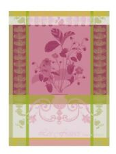 Garnier-Thiebaut French Country Kitchen Dish Towel Fraisier Rose New