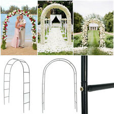95'' Iron Arch Way Assemble Door Wedding Party Bridal Prom Garden Floral Gate