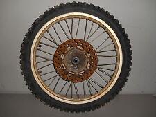 """1988 KAWASAKI KX250 KX 250 MX TAKASAGO Front Wheel Rim HUB Tire 21"""""""