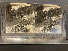 BURMA 1890-1900s, STEREO VIEW COMPANY #P92, SCHOOL BOYS AND TEACHER