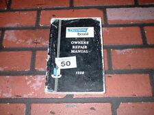 GENUINE TRIUMPH HERALD 1200 OWNERS REPAIR MANUAL.1961.