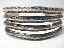 Beautiful Rare Southwest Zuni Indian Sterling silver wide cuff bracelet