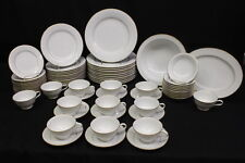 68 Pc Noritake Fine China GUENEVERE White Scroll #6517, Service for 11  (177)