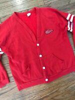 Vtg 70s 80s USA Yosemite Varsity Sweatshirt Cardigan Fleece Sweater Acrylic XL