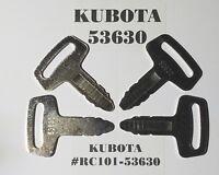 2 GENUINE KUBOTA IGNITION KEYS PART # RC101-53630