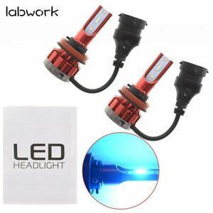 2x 32000LM Low Beam Bulbs H11 8000K Ice Blue LED Headlight Kit High Power Car