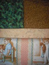 Quilt, Sew, Fabric Bessie Pease Kids Blocks/Squares Panel & Coordinates
