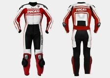 DUCATI Hommes Courses Combinaison de Moto en Cuir Moto en Cuir Veste Pantalon 54