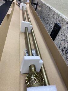 "Achim Buono II Othello Curtain Rod with Finials extends 60"" X - 120"""