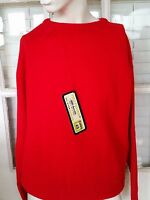NEW with TAGS 60s Mid Century Vintage Womens Back Zip Crewneck Sweater Medium
