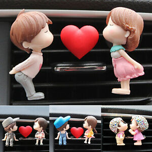 Lovely Couple Car Air Vent Freshener Perfume Clip Aroma Diffuser Auto Ornament