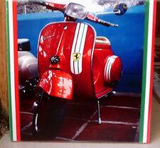 """VESPA """"Ferrari"""" colours piaggio italian flag tricolore Moto  CERAMIC Tile"""