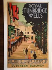 Vintage Travel Poster 1934 Southern Railway by Artist Kenneth Shoesmith
