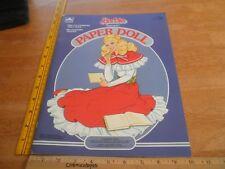 Barbie Fantasy Paper Dolls book Golden 1984 unused