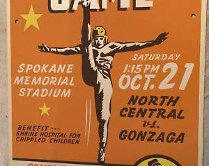 1950 GONZAGA VS. NORTH CENTRAL SPOKANE HIGH SCHOOL FOOTBALL SHRINE GAME POSTER