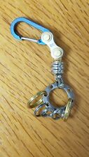Titanium Carabiner, Snap Spring Hook Clip, EDC Keychain, Key Ring, Blue Anodize
