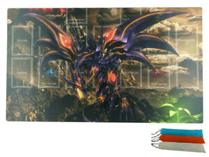 YuGiOh Red-Eyes Darkness Dragon Master Rule 4 Zones Custom  Playmat Free  bag