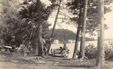 RPPC Silver Lake Campsite, Laona Forest County, WI Camping 1928 Vintage Postcard