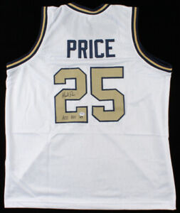 Mark Price Signed Georgia Tech Yellow Jacket Jersey Inscribed ACC ROY 83 PSA COA
